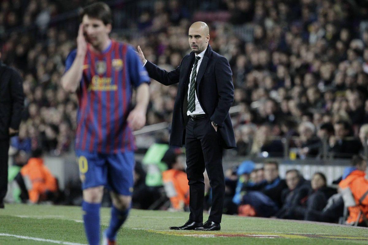 Lionel Messi et Pep Guardiola réunis