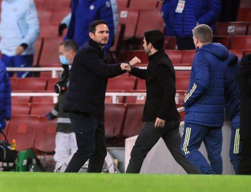 Mikel Arteta et Frank Lampard
