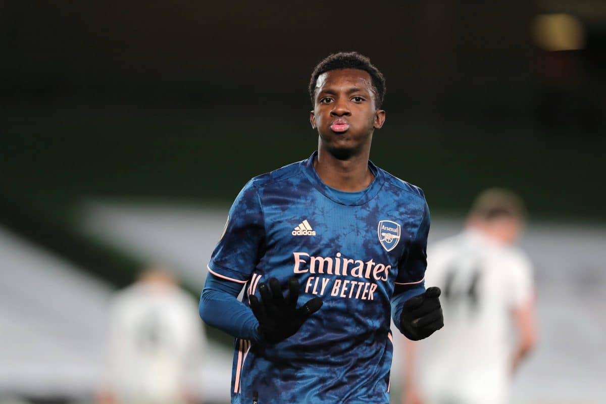 Eddie Nketiah, attaquant d'Arsenal