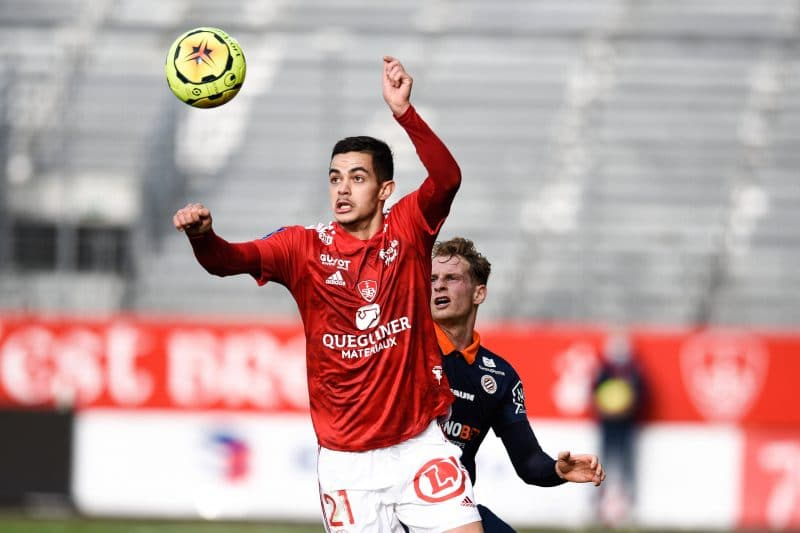 Nicolas Faivre, milieu de terrain du Stade Brestois