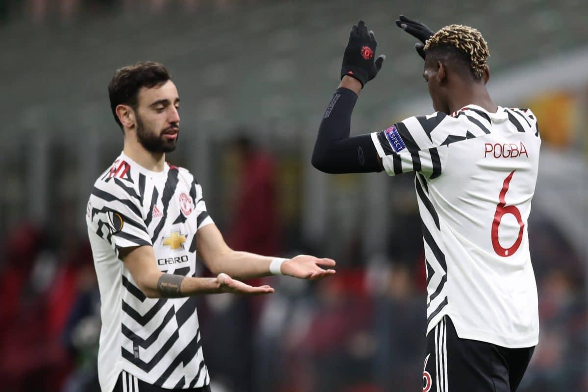 Bruno Fernandes et Paul Pogba à Manchester United