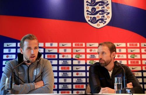 Gareth Southgate et Harry Kane