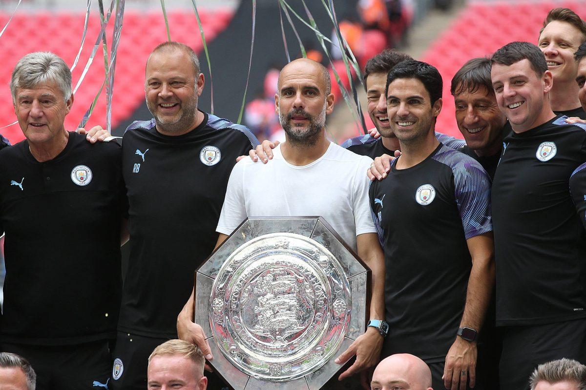 Pep Guardiola avec Man City