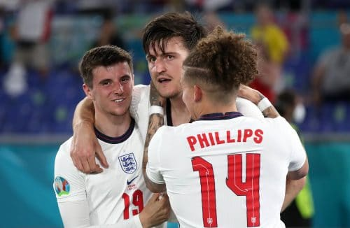 Harry Maguire avec l'Angleterre à l'Euro 2020