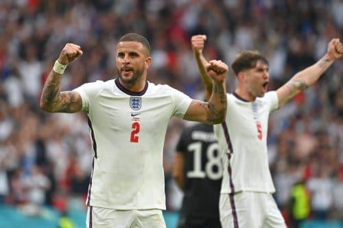 John Stones et Kyle Walker avec l'Angleterre à l'Euro 2020
