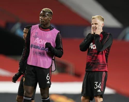 Paul Pogba et Donny Van de Beek de Manchester United