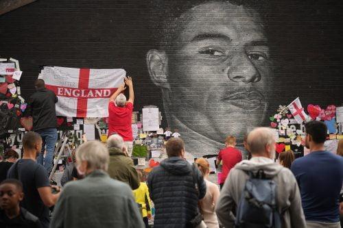 Marcus Rashford fresque murale à Manchester